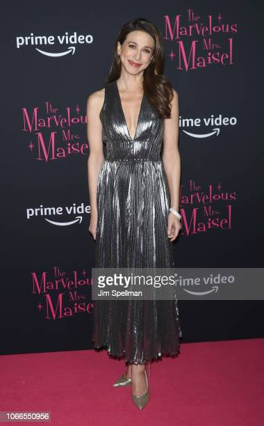 Actress Marin Hinkle attends the The Marvelous Mrs Maisel New York premiere at The Paris Theatre on November 29 2018 in New York City