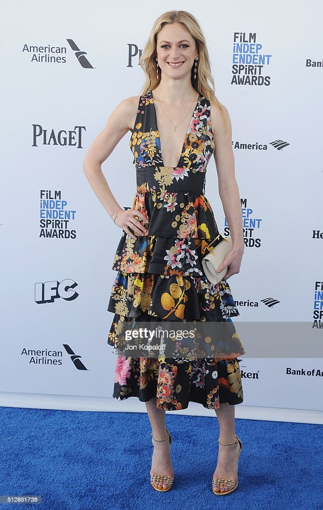 Actress Marin Ireland arrives at the 2016 Film Independent Spirit Awards on February 27, 2016 in Los Angeles, California.