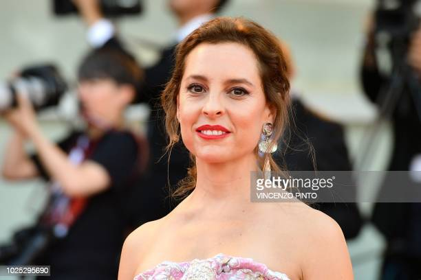 Actress Marina de Tavira arrives for the premiere of the film Roma presented in competition on August 30 2018 during the 75th Venice Film Festival at...
