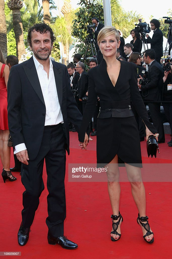 Actress Marina Fois and guest attend the 'Fair Game' Premiere at the Palais des Festivals during the 63rd Annual Cannes Film Festival on May 20, 2010 in Cannes, France.