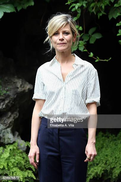 Actress Marina Fois attends a photocall for 'Pericle Il Nero' at Jardin De Russie on May 7 2016 in Rome Italy