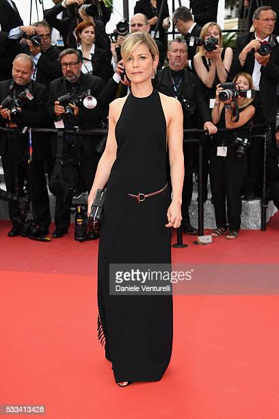 Actress Marina Fois attends the closing ceremony of the 69th annual Cannes Film Festival at the Palais des Festivals on May 22 2016 in Cannes France