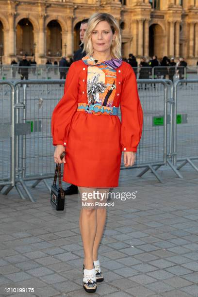 Actress Marina Fois attends the Louis Vuitton show as part of the Paris Fashion Week Womenswear Fall/Winter 2020/2021 on March 03, 2020 in Paris,...