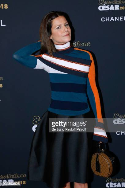Actress Marina Fois dressed in Louis Vuitton attends the 'Cesar Revelations 2018' Party at Le Petit Palais on January 15 2018 in Paris France