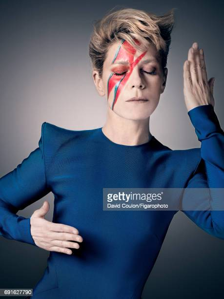 Actress Marina Fois is photographed as David Bowie for Madame Figaro on April 3 2017 in Paris France Top PUBLISHED IMAGE CREDIT MUST READ David...