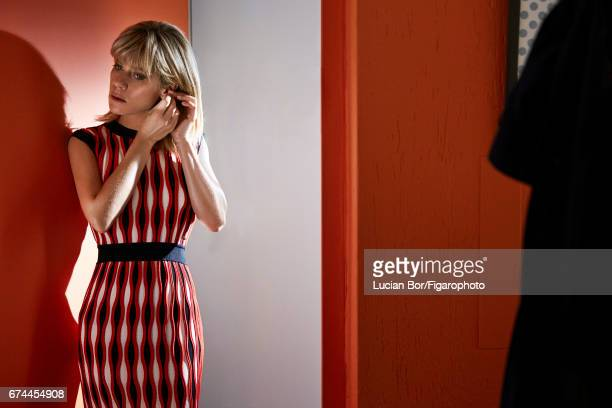 Actress Marina Fois is photographed for Madame Figaro on March 1, 2017 in Paris, France. Dress , earring . PUBLISHED IMAGE. CREDIT MUST READ: Lucian...