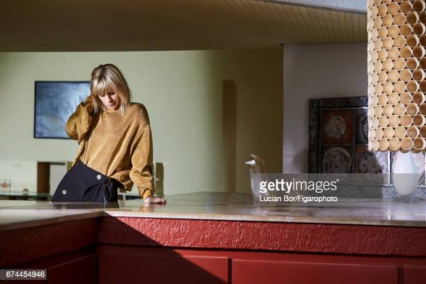 Actress Marina Fois is photographed for Madame Figaro on March 1 2017 in Paris France Top and skirt PUBLISHED IMAGE CREDIT MUST READ Lucian...