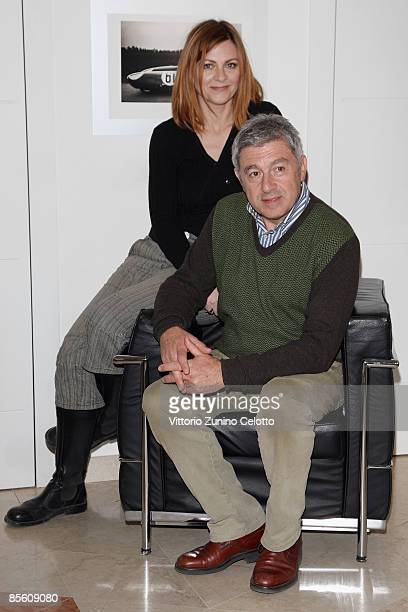 Actress Marina Massironi and actor Antonio Catania pose on March 25 2009 in Milan Italy
