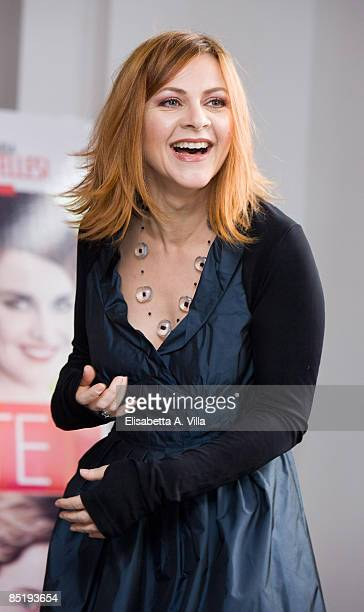 Actress Marina Massironi attends Due Partite photocall at Adriano Cinema on March 2 2009 in Rome Italy