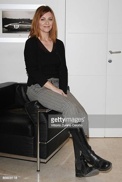 Actress Marina Massironi poses on March 25 2009 in Milan Italy