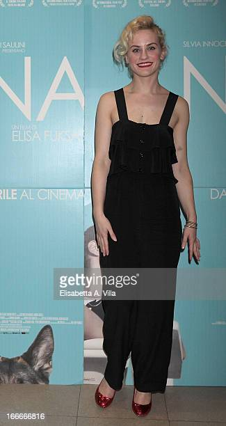 Actress Marina Rocco attends 'Nina' premiere at Cinema Barberini on April 15 2013 in Rome Italy