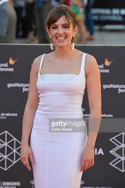 Actress Marina Salas attends Nuestros Amantes premiere at the Cervantes Teather during the 19th Malaga Film Festival on April 30 2016 in Malaga Spain