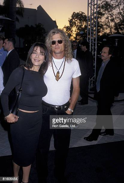 Actress Marina Sirtis and actor Michael Lamper attending the world premiere of Deep Impact on April 29 1998 at Paramount Studios in Hollywood...