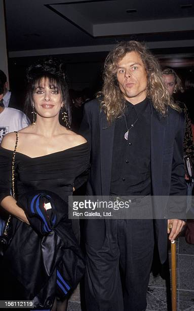 Actress Marina Sirtis and husband Michael Lamper attending 'Education First Benefit Gala' on February 10 1992 at the Hotel Nikko in Los...