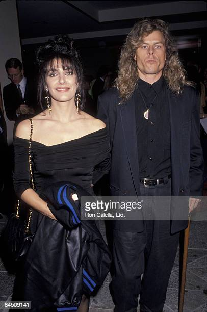 Actress Marina Sirtis and husband Michael Lamper attending Education First Benefit Gala on February 10 1992 at the Hotel Nikko in Los...