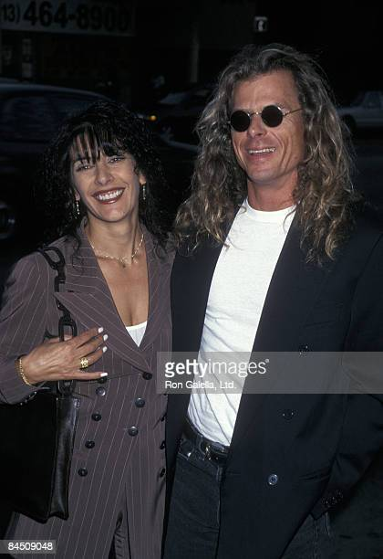 Actress Marina Sirtis and husband Michael Lamper attending the opening night of Master Class on January 23 1997 at the Doolittle Theater in Hollywood...