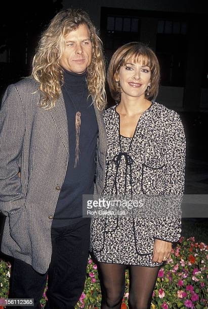 Actress Marina Sirtis and husband Michael Lamper attending the premiere of 'Star Trek Generations' on November 17 1994 at Paramount Studios in...
