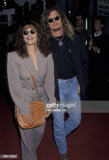 Actress Marina Sirtis and husband Michael Lamper attending the premiere of 'Speed' on June 7 1994 at Mann Chinese Theater in Hollywood California