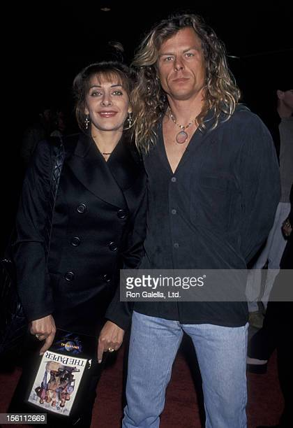 Actress Marina Sirtis and husband Michael Lamper attending the screening of 'The Paper' on March 16 1994 at the Cineplex Odeon Cinema in Century City...