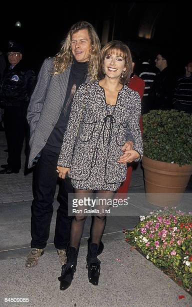 Actress Marina Sirtis and husband Michael Lamper attending the premiere of Star Trek Generations on November 17 1994 at Paramount Studios in...