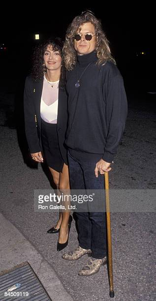 Actress Marina Sirtis and husband Michael Lamper attending the premiere of Runnin' On Empty on April 13 1992 at the Wilshire Ebell Theater in Beverly...