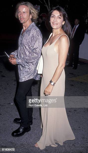 Actress Marina Sirtis and husband Michael Lamper attending the world premiere of Big Daddy on June 18 1999 at the Avco Center Cinema in Westwood...