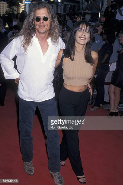 Actress Marina Sirtis and husband Michael Lamper attending the world premiere of Conspiracy Theory on August 4 1997 at Mann Village Theater in...