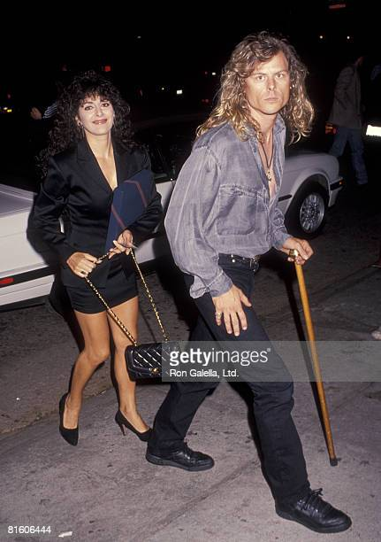 Actress Marina Sirtis and husband Michael Palmer attending Sting Concert Party on October 2 1991 at A and M Studios in Hollywood California