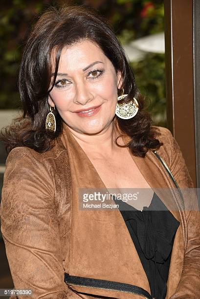 Actress Marina Sirtis arrives at Empowered Brunch With Cindy Cowan at Four Seasons Hotel Los Angeles at Beverly Hills on April 7, 2016 in Los...