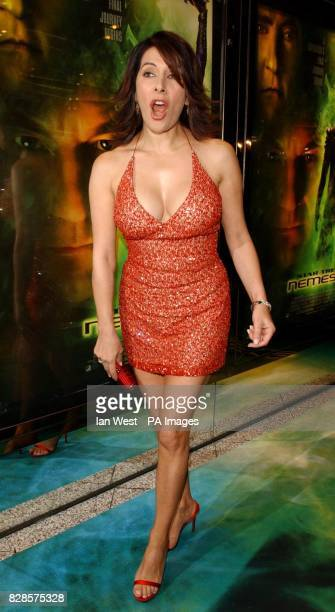Actress Marina Sirtis arrives for the European Charity Premiere of Star Trek Nemesis at the Empire Leicester Square