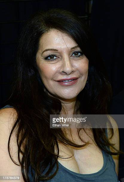 Actress Marina Sirtis attends Comic-Con International 2013 at the San Diego Convention Center on July 17, 2013 in San Diego, California.