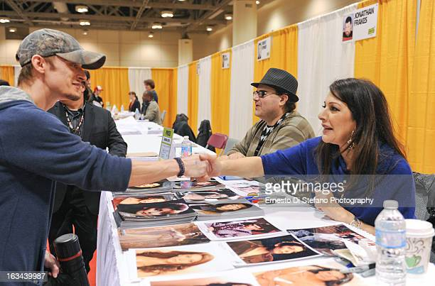 Actress Marina Sirtis attends ComiCon Toronto 2013 at Metro Toronto Convention Centre on March 9, 2013 in Toronto, Canada.