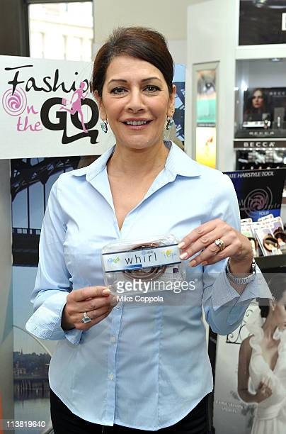Actress Marina Sirtis attends FashionOnTheGo hair styling services celebration at Duane Reade on May 6 2011 in New York City