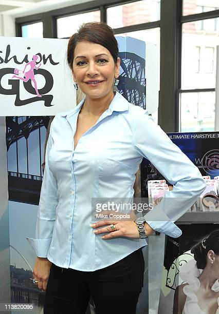 Actress Marina Sirtis attends FashionOnTheGo hair styling services celebration at Duane Reade on 51 West 51st Street on May 6 2011 in New York City