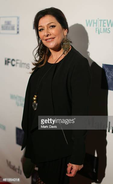 Actress Marina Sirtis attends the Los Angeles Premiere of 'Match' held at the Laemmle Music Hall on January 14, 2015 in Beverly Hills, California.