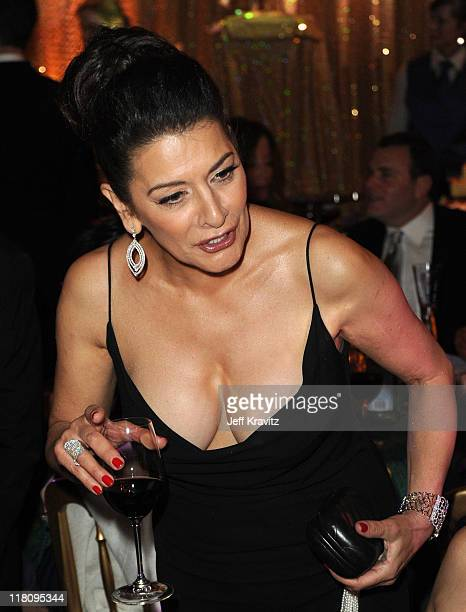Actress Marina Sirtis attends the official HBO SAG Awards after party held at at Spago on January 29 2011 in Beverly Hills California