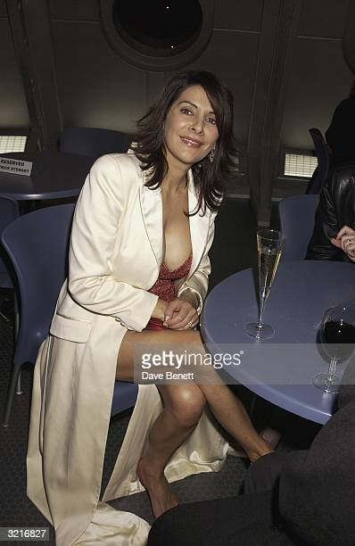 Actress Marina Sirtis attends the UK film premiere of 'Star Trek Nemesis' at the Leicester Square Odeon on December 17 2002 in London