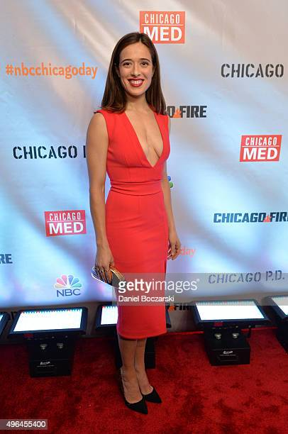 Actress Marina Squerciati attends a premiere party for NBC's 'Chicago Fire' 'Chicago PD' and 'Chicago Med' at STK Chicago on November 9 2015 in...