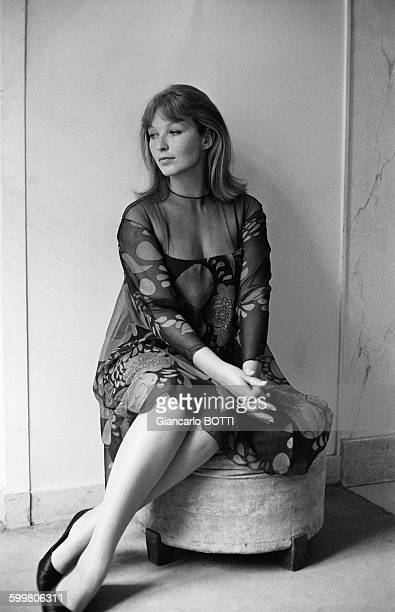 Actress Marina Vlady At Fashion Designer Jacques Heim's Shop In Paris France On May 3 1965