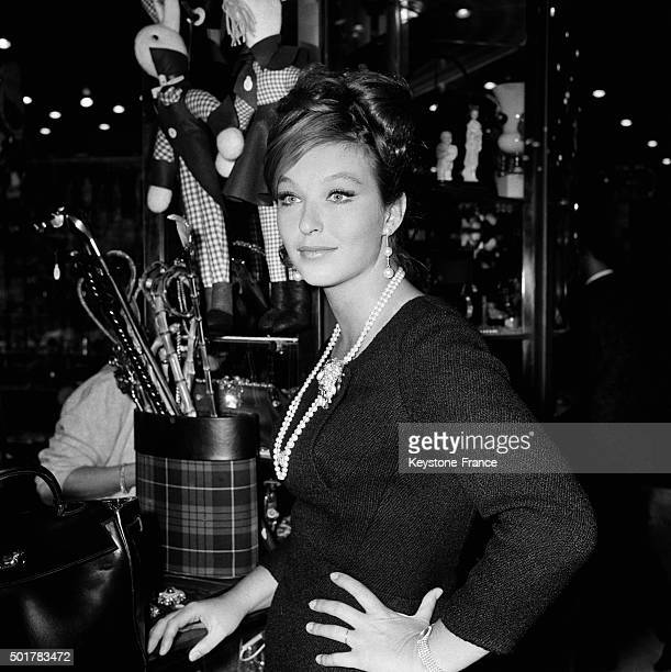 Actress Marina Vlady shopping on the ChampsElysées on May 15 1963 in Paris France
