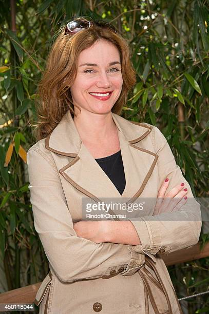 Actress Marine Delterme attend the Roland Garros French Tennis Open 2014 - Day 12 at Roland Garros on June 5, 2014 in Paris, France.