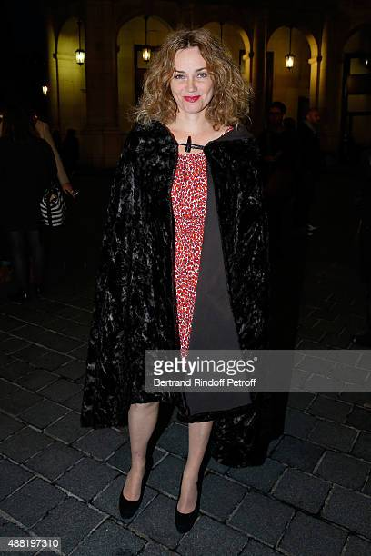 Actress Marine Delterme attends 'Le Mensonge' : Theater Play. Held at Theatre Edouard VII on September 14, 2015 in Paris, France.