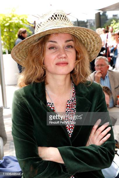 Actress Marine Delterme attends the 2019 French Tennis Open - Day Ten at Roland Garros on June 04, 2019 in Paris, France.