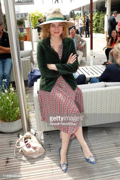 Actress Marine Delterme attends the 2019 French Tennis Open Day Ten at Roland Garros on June 04 2019 in Paris France