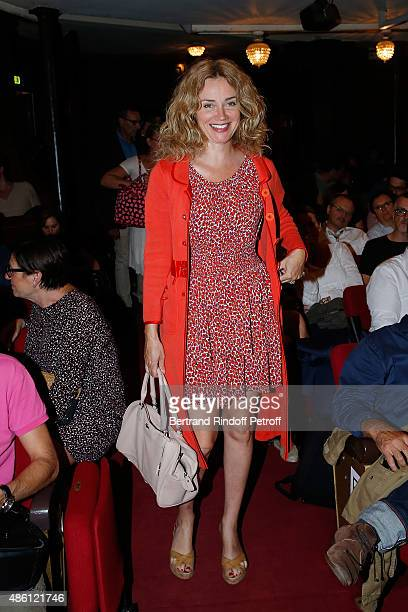 Actress Marine Delterme attends the 'Momo' Theater Play At Theatre de Paris on August 31, 2015 in Paris, France.