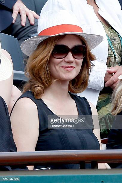 Actress Marine Delterme attends the Roland Garros French Tennis Open 2014 - Day 12 on June 5, 2014 in Paris, France.