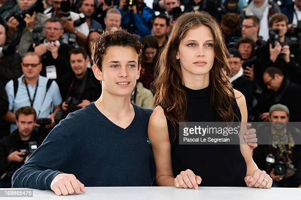 Actress Marine Vacth and actor Fantin Ravat attend the 'Jeune Jolie' Photocall during the 66th Annual Cannes Film Festival at the Palais des...