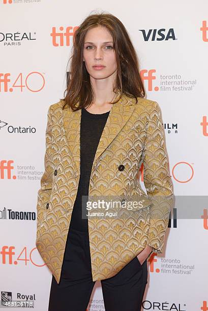 Actress Marine Vacth attend the premiere of 'Families' at Princess of Wales Theatre during 2015 Toronto International Film Festival on September 13...