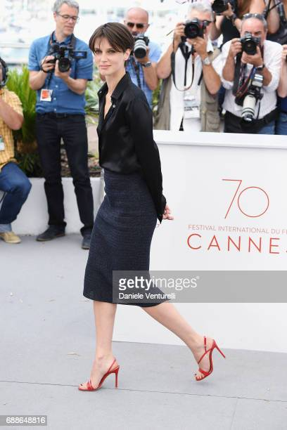Actress Marine Vacth attends the 'Amant Double ' photocall during the 70th annual Cannes Film Festival at Palais des Festivals on May 26 2017 in...