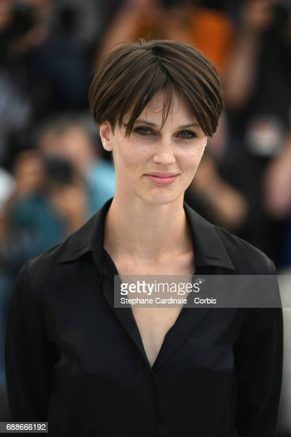 """Actress Marine Vacth attends the """"Amant Double """" photocall during the 70th annual Cannes Film Festival at Palais des Festivals on May 26, 2017 in..."""